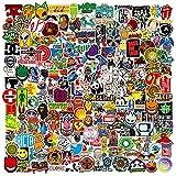 RGBEE Aufkleber 200 Stück, Wasserfeste Vinyl Sticker Set für Laptop, Koffer, Helm, Motorrad, Skateboard, Snowboard, Auto, Fahrrad, Computer, Graffiti und Kawaii Aufkleber Decals...