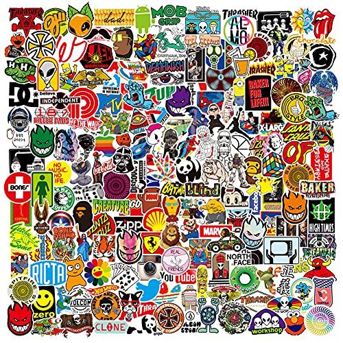 RGBEE Aufkleber 200 Stück, Wasserfeste Vinyl Sticker Set für Laptop, Koffer, Helm, Motorrad, Skateboard, Snowboard, Auto, Fahrrad, Computer, Graffiti und Kawaii Aufkleber Decals Stickerbomb