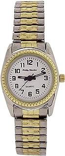 Philip Mercier Ladies White Dial Two Tone Expander Bracelet Strap Watch MC71a