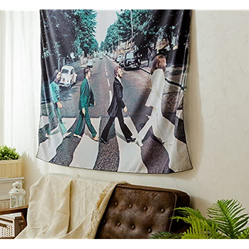 The Beatles Walk On Road Wall Hanging Tapestry Decor Art For Living Room Bedroom