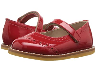 Elephantito Martina Flats (Toddler) (Patent Red) Girls Shoes