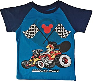 Disney Mickey Mouse and The Roadster Racers Little Toddler Boys T Shirt (2T) Blue