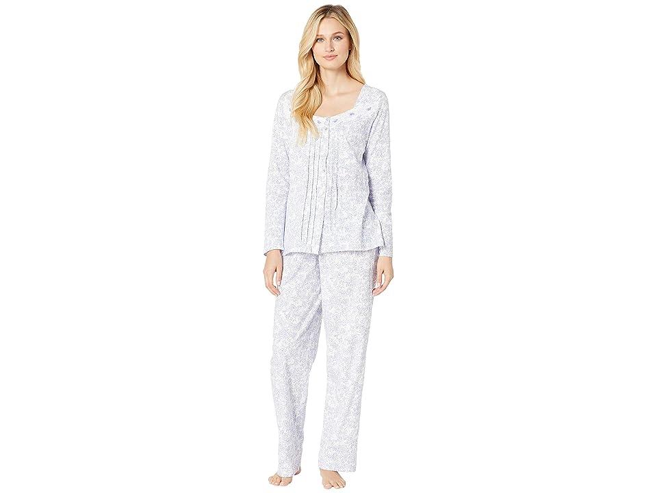 Carole Hochman Soft Jersey Long Pajama Set (Lilac Vine Floral) Women