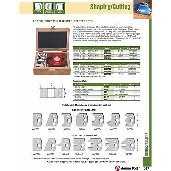Amana Tool - SCS-1104 Multipiece Profile Pro 88mm Dia x 40mm x 1-1/4 Bore Starter Set