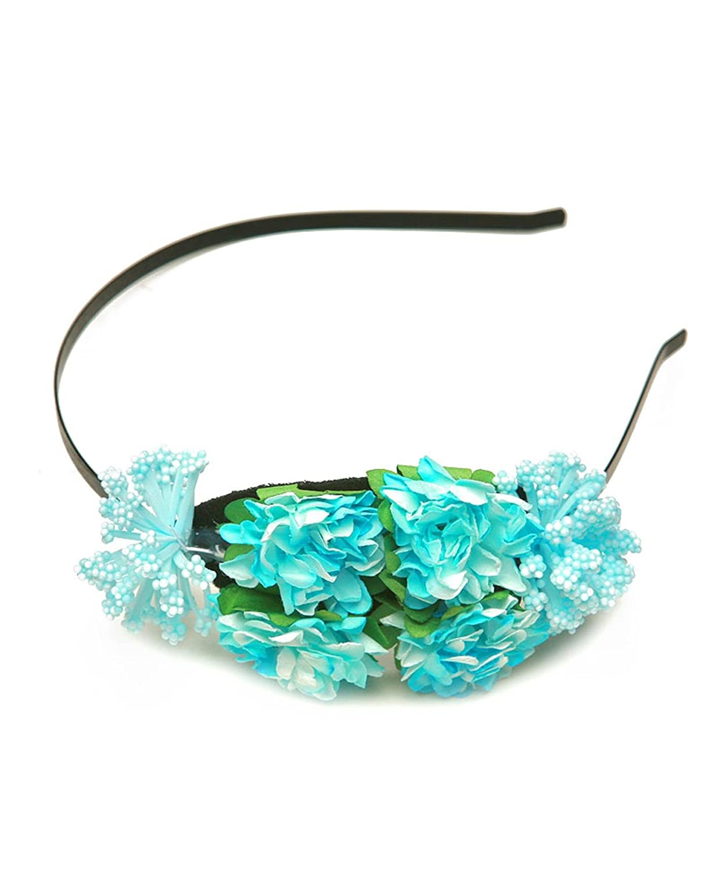 Leaves and Flower HeadBand For Women / AZFJHB502-BLU