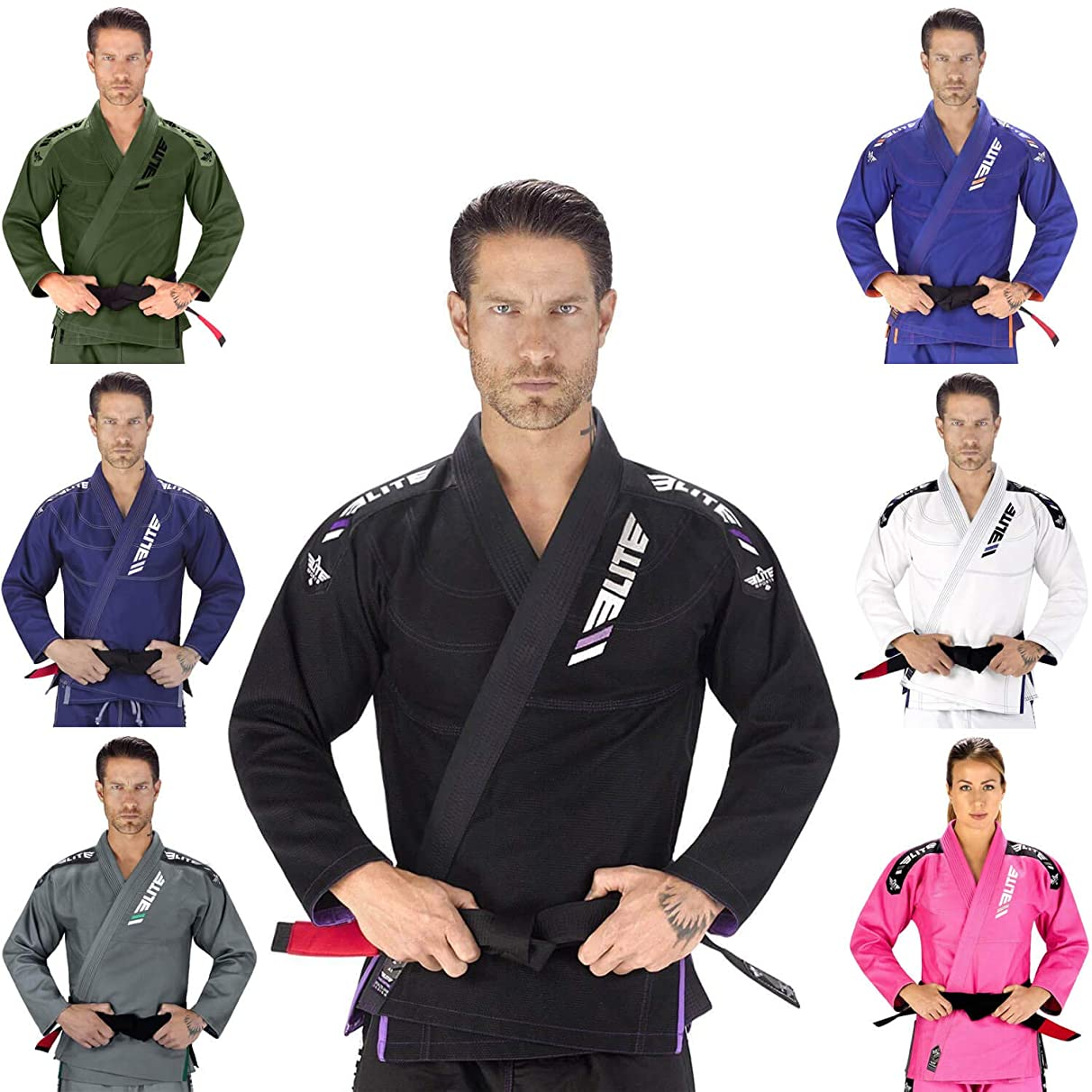 Elite Sports IBJJF Ultra Light BJJ Brazilian Jiu Jitsu Gi W/Preshrunk Fabric & Free Belt