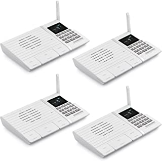 Wireless Intercom System, SAMCOM FTAN20A 20 Channels 3 Code Security Ultra-thin Room to Room Intercom with Display Screen 1000FT Long Range for Home and Office (4 Units)
