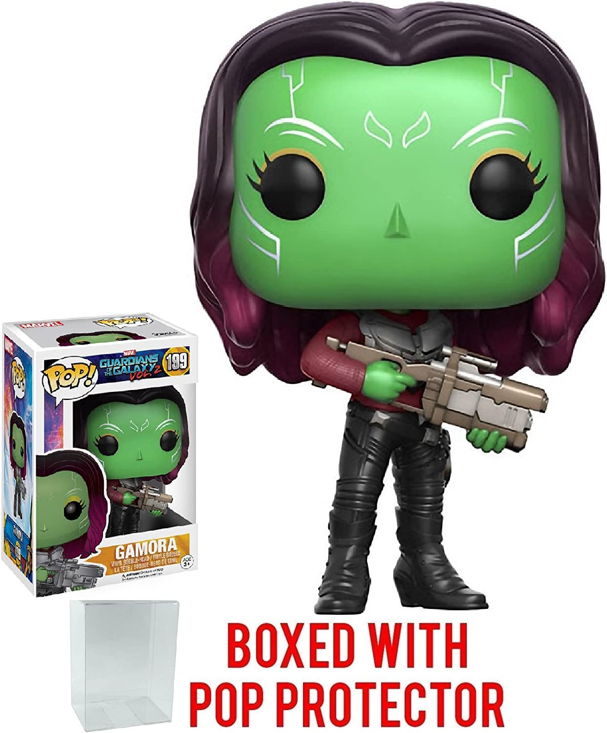 Funko Pop Marvel  Guardians of the Galaxy Vol. 2  Gamora Vinyl Figure (Bundled with Pop Box Predector Case)