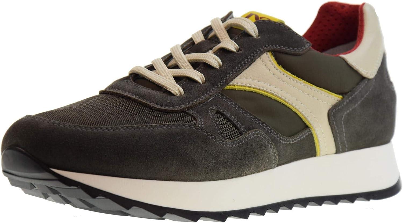 black GIARDINI shoes men low sneakers P900941U   522