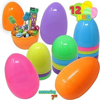 JOYIN 12 Pieces Gigante Huevos de Pascua 18CM, con Mini