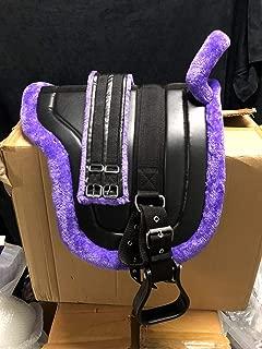 Equipride Pony Power Selle 33/cm Comlete de simili cuir en bleu
