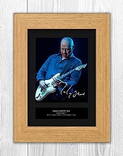 Mark Knopfler - Dire Straits 3 MT - Signed Autograph Reproduction Photo A4 Print(Oak Frame)