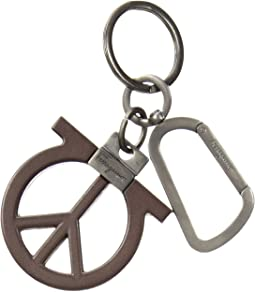 Salvatore Ferragamo - Gancio Peace Sign Charm