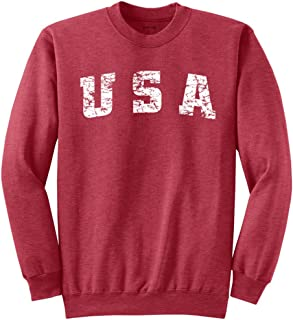 Vintage USA Logo Sweatshirts in 28 Colors in Sizes S-4XL