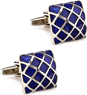 Sponsored Ad - CIFIDET Enamel Epoxy Cufflink Classic Men Cuff Link With Velvet Bag and Gift Box Jewelry Accessories Present