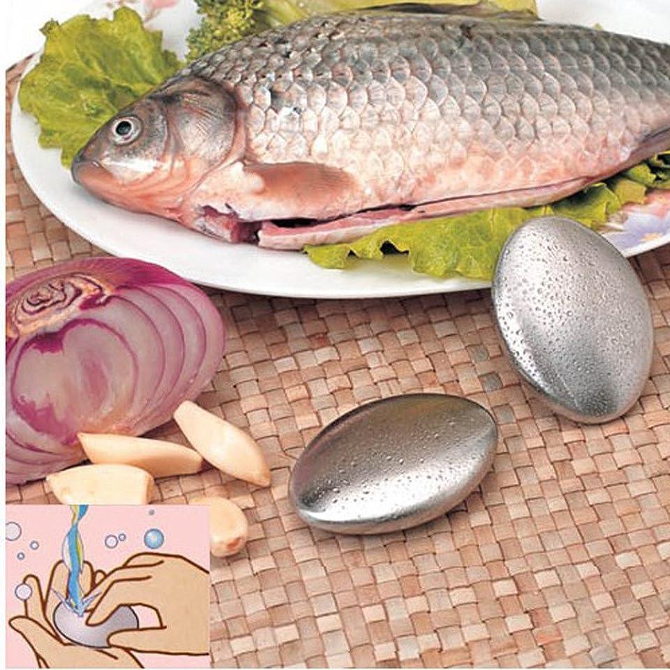 変形欠かせないソーダ水zlianhui のステンレス鋼の石鹸、臭気の除去剤のステンレス鋼の石鹸の台所棒は石鹸箱が付いている臭気の除去剤を除去します