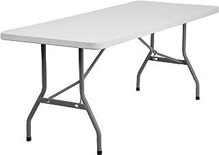Flash Furniture 6-Foot Granite White Plastic Folding Table