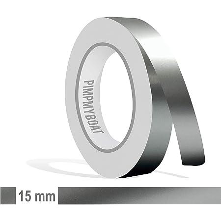 Siviwonder Zierstreifen Silber Metallic Glanz In In 15 Mm Breite Und 10 M Länge Für Auto Boot Jetski Modellbau Klebeband Dekorstreifen Auto