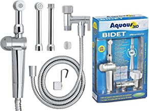 RinseWorks - Aquaus 360 Patented Hand Held Bidet Sprayer - NSF cUPC Certified for Legal Installation - 2 Backflows – Dual Pressure Controls - StayFlex Hose - 3 to 11 Inch Spray reach - 3 Year Warranty