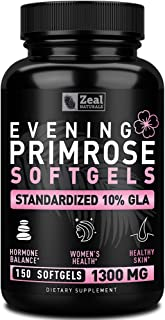 Sponsored Ad - Evening Primrose Oil Capsules (150 Liquid Softgels | 1300mg) 100% Pure Evening Primrose Oil - Natural Suppl...