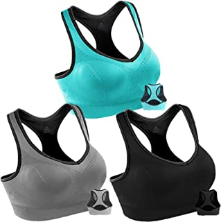Women Racerback Sports Bras High Impact Workout Yoga Gym Activewear Fitness Bra