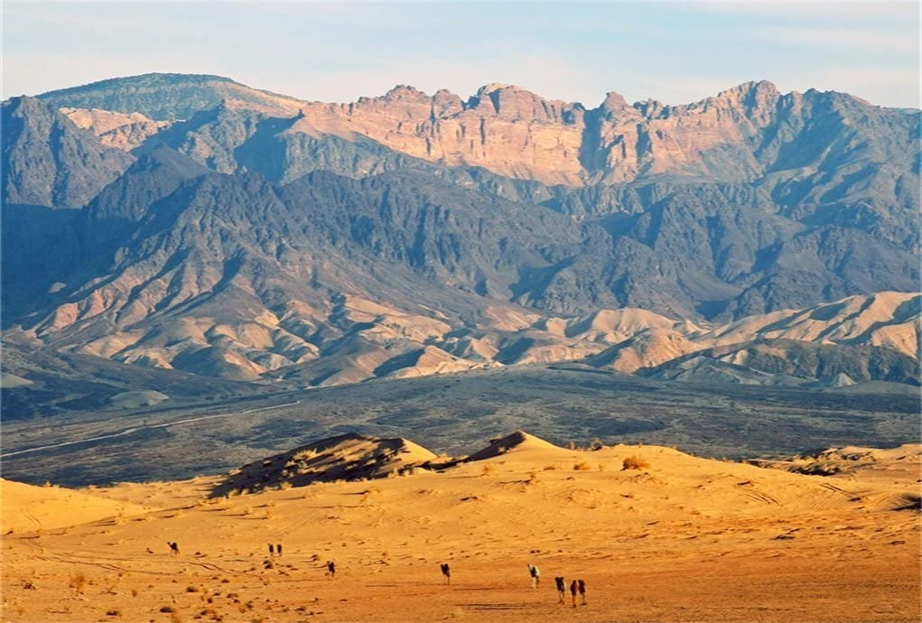 AOFOTO 8x6ft Desert and Mountain Landscape Backdrop for Photography Outdoor Nature Scenery Background Adventure Tour Photo Studio Props Man Lovers Adult Girl Boy Artistic Portrait Wallpaper