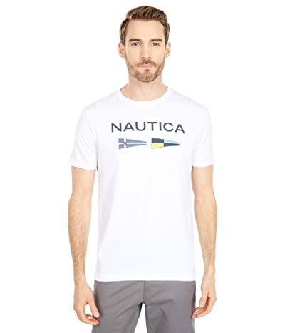 Nautica Signal Flags Graphic T-Shirt (Bright White) Men