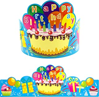Birthday Crowns for Kids Family Birthday Classroom School VBS Party Supplies Pack of 30