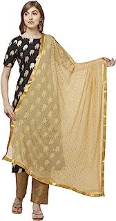 Dupatta Bazaar Woman's Embellished Chiffon Dupatta.