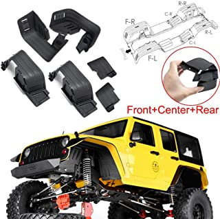 Front & Rear Mud Flaps Fender for 1/10 RC Crawler Axial SCX10 II 90046 90047 Plastic, Black