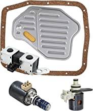 labwork 4R70W AODE Transmission Solenoid Set Filter Kit for EPC TCC Lockup Shift 98-04