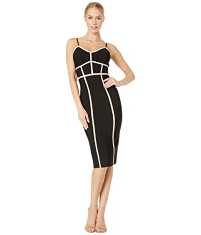 BCBGMAXAZRIA Fitted Midi Cocktail Dress (Bare Pink Combo) Women