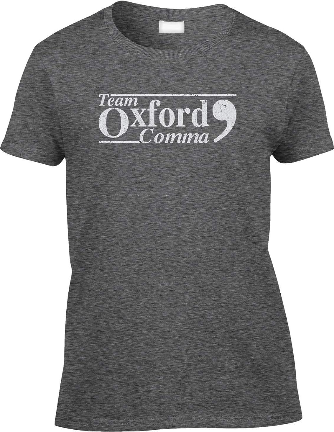 Blittzen Womens/Ladies T-Shirt Team Oxford Comma - Punctuation Proud