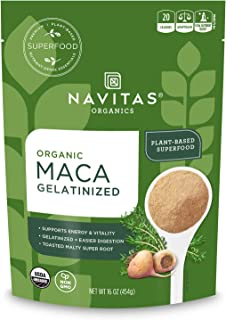 Navitas Organics Maca Gelatinized Powder, 16 oz. Bag, 90 Servings — Organic, Non-GMO, Gluten-Free, 1 Pound (Pack of 1)