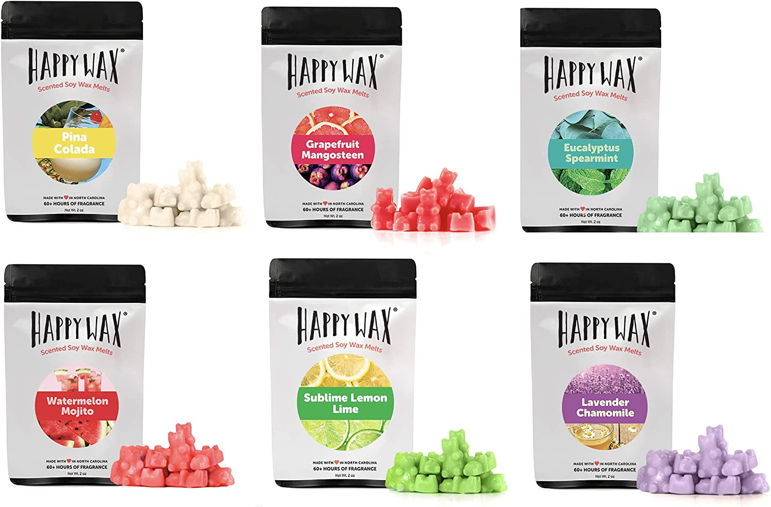 Happy Wax - Melt Gift Set Includes Popular shop is the lowest price challenge 12 Scented Oz Total of cheap