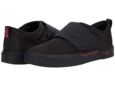 PUMA El Rey II Slip-On (Puma Black/High Risk Red) Shoes