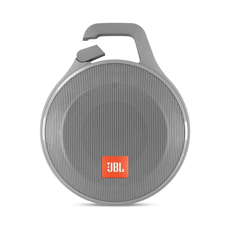 JBL Clip+ Splashproof Portable Bluetooth Speaker, Gray