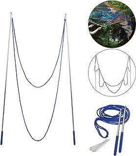 ZERHOK Cuerda para Giant Bubble 1pcs Varita telescópica para Burbuja Bubble Show Herramientas Juguete Aire Libre con una par de Varita y una Cuerda Azul