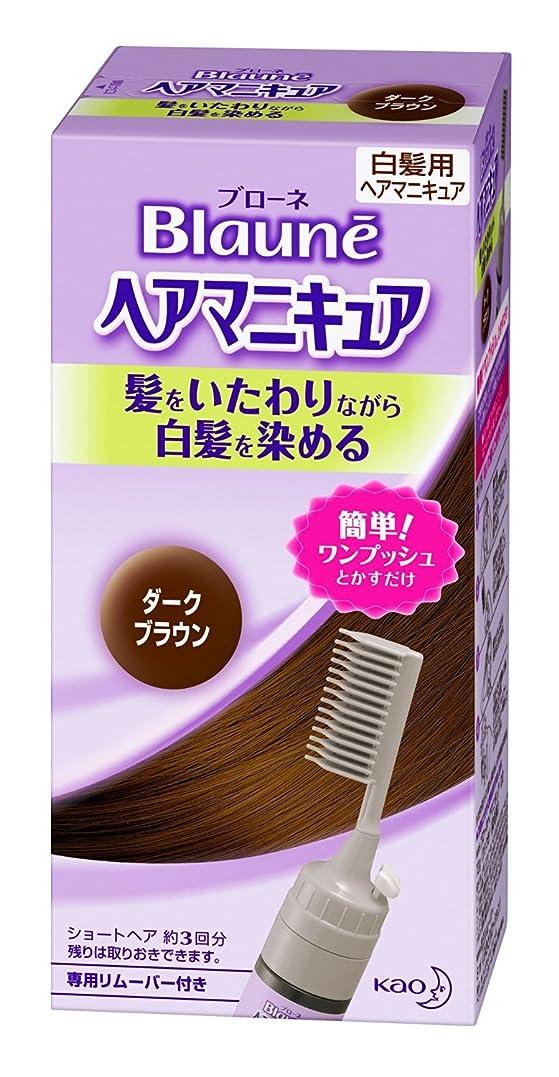 近似すぐに推測【花王】ブローネ ヘアマニキュア 白髪用クシ付ダークブラウン ×20個セット