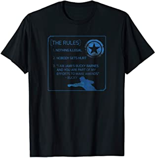 Marvel The Falcon and The Winter Soldier Bucky Barnes Rules T-Shirt