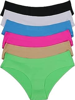 Women's 6 Pack Laser Cut Brazilian Style Tanga Panty