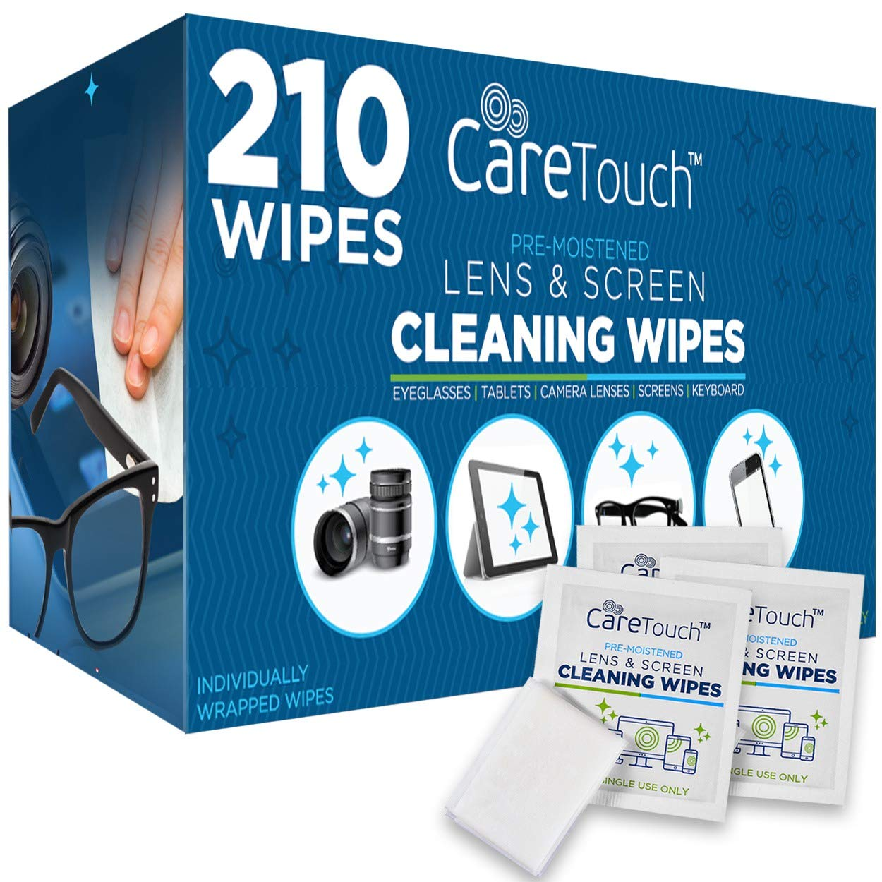 Care Touch Moistened Cleansing Eyeglasses