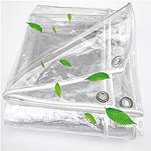 GYOWEI dekzeildoek, zwaar transparant Tarp, beschermende dekzeilhoes voor tuinmeubilair Trampoline zwembad, aanpasbaar, 0,...
