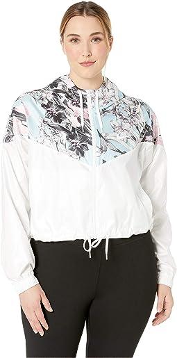 Plus Size Sportswear Hyper Femme Jacket Crop Windrunner
