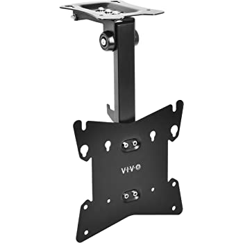 """VIVO Black Manual Flip Down Mount Folding Pitched Roof Ceiling Mounting for Flat TV & Monitors 17"""" to 37"""" (MOUNT-M-FD37B)"""