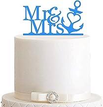 edelstahlheini.de Cake Topper, taartstekker, taartfiguur acryl, taartstandaard - kleurkeuze - etagère bruiloft anker Mr & ...
