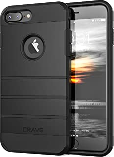 iPhone 8 Plus Case, iPhone 7 Plus Case, Crave Strong Guard Protection Series Case for Apple iPhone 8/7 Plus (5.5 Inch) - Black