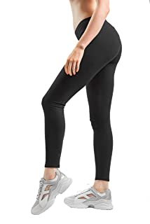 Womens Cotton Spandex Basic Full Length Classic Leggings Pants
