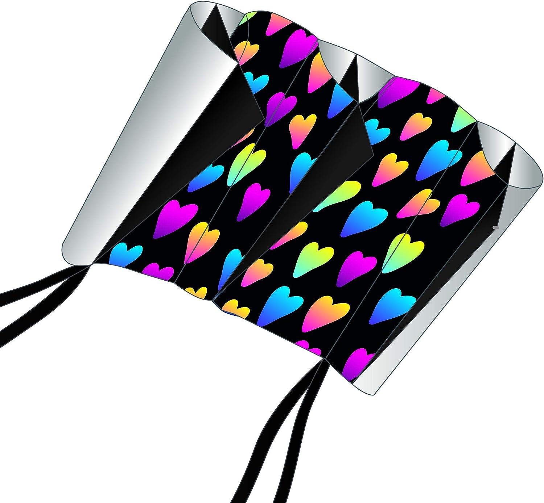 X-Kites SkyFoil Virginia Beach Reservation Mall Nylon Frameless Hearts Inches Kite 38