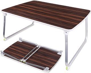 NEARPOW ローテーブル 折りたたみ 折れ脚 ローデスク アウトドアテーブル 70*50*32.5CM 座卓 ミニテーブル 多機能 コンパクト 軽量 食事 勉強 ピクニック キャンプ 用 (ブラウン)